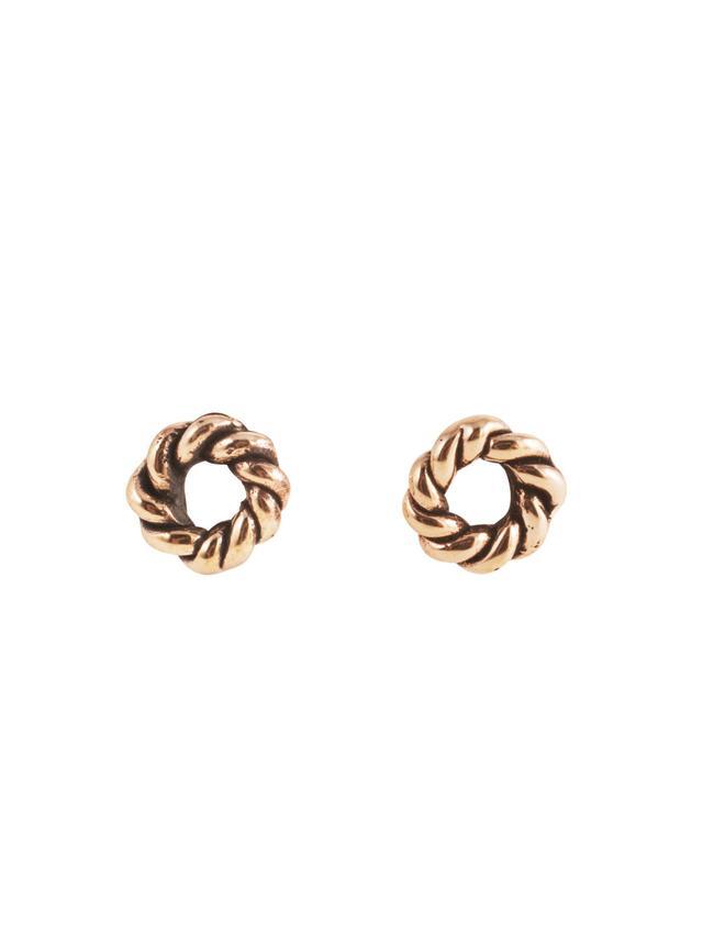 Flaminia Barosini Small Round DNA Earrings in Bronze