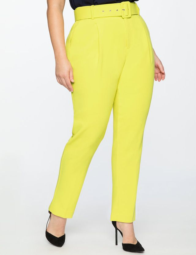 Eloquii High Waisted Trousers With Belt