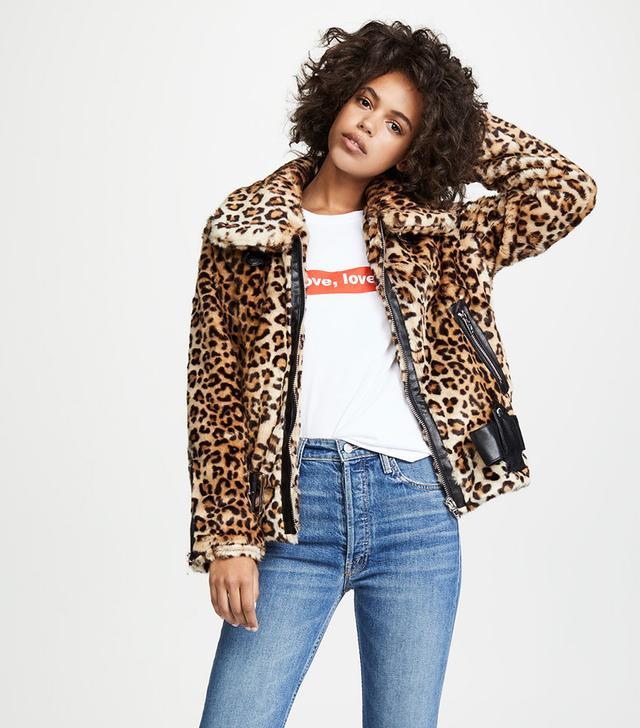 Blank Denim Leopard Print Jacket