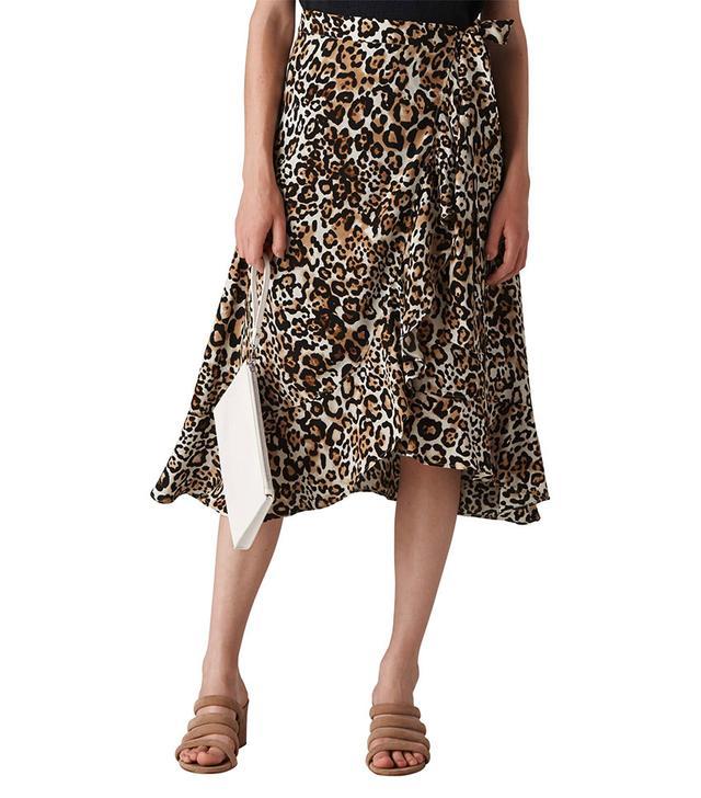Whistles Animal Frill Wrap Skirt