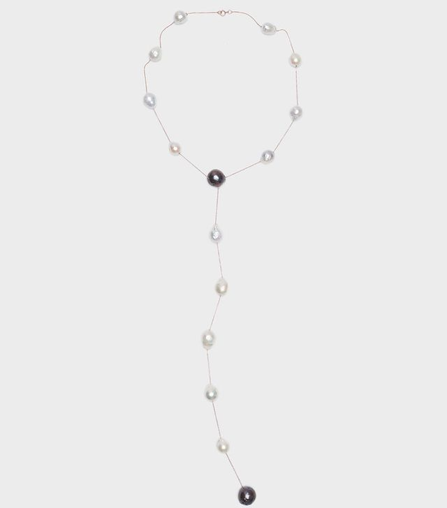 Danielle Frankel Rebel Pearl and Chain Necklace