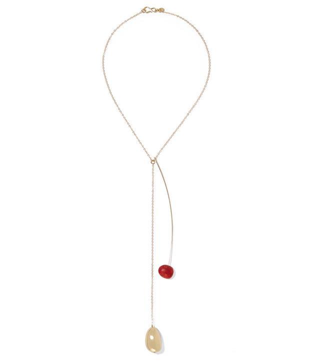 Dinosaur Designs Pebble Gold-Tone Resin Necklace