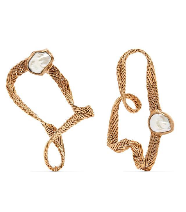 Stvdio Martine Gold-Tone Pearl Earrings