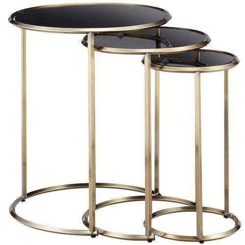 Temple & Webster 3 Piece Riverside Nesting Side Tables Set
