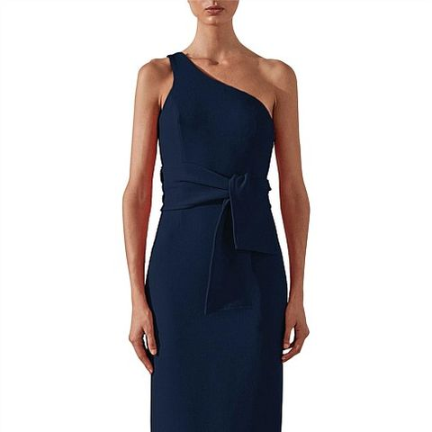 Fitted One Shoulder Midi