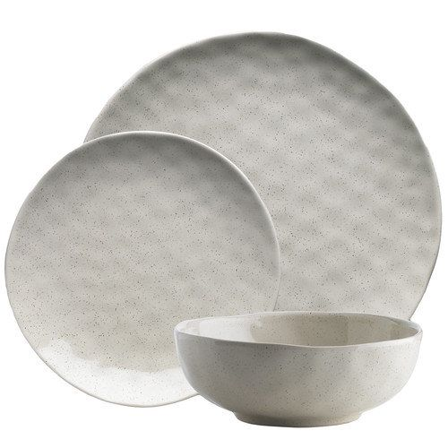 Ecology Speckle Oatmeal 12 Piece Dinner Set