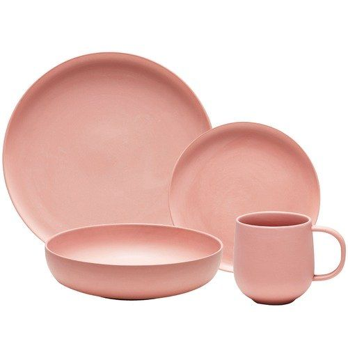 Salt & Pepper 16 Piece Clay Form Porcelain Dinner Set