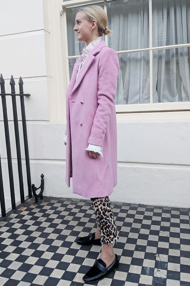 7bfe1421d61a Shoes capsule wardrobe  Joy Montgomery wearing Ted Baker coat and Jigsaw  loafers