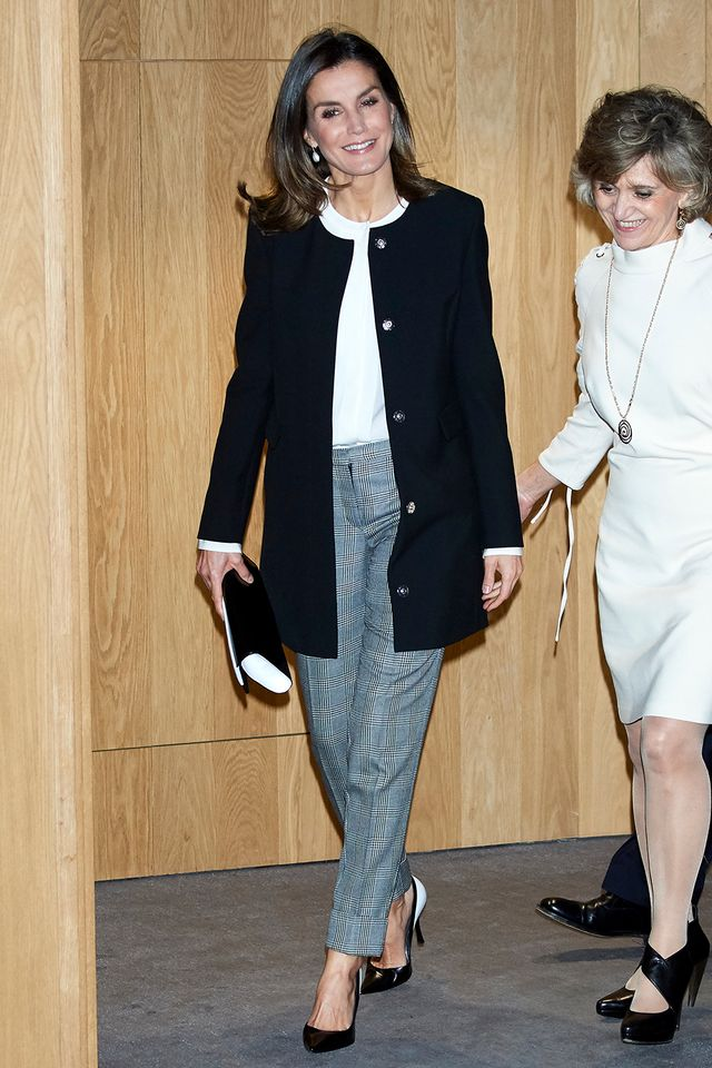 Queen Letizia of Spain shoes and bag