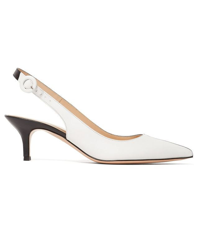 Gianvito Rossi 55 leather kitten-heel pumps