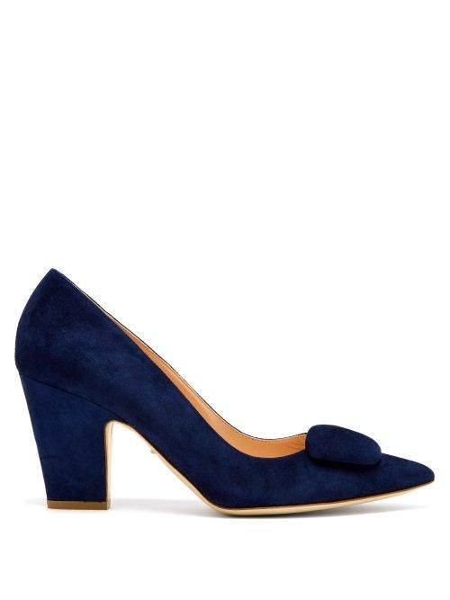 Rupert Sanderson - Pierrot Suede Pumps - Womens - Navy