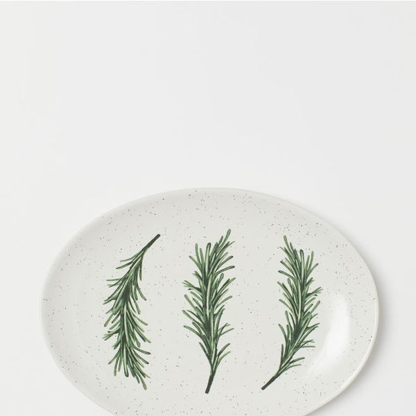 H&M Oval Porcelain Plate