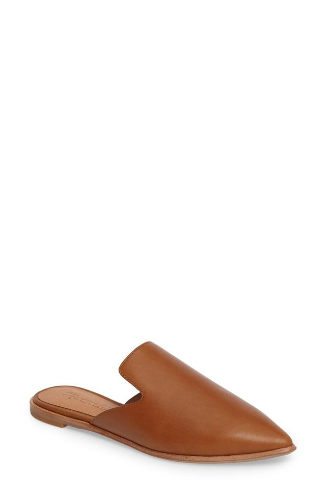 Madewell The Gemma Pointy Toe Mule First-Time Flying Tips