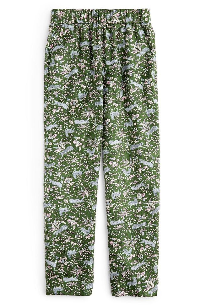 J.Crew Pull-On Print Silk Twill Easy Pants First-Time Flying Tips