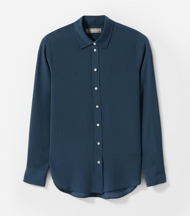 Everlane The Clean Silk Relaxed Shirt First-Time Flying Tips