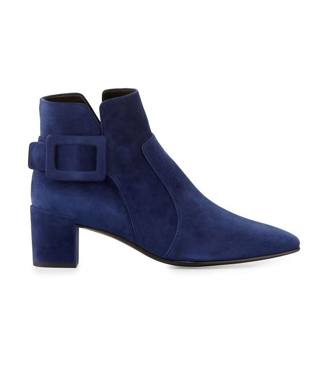 Roger Vivier Polly Suede Booties