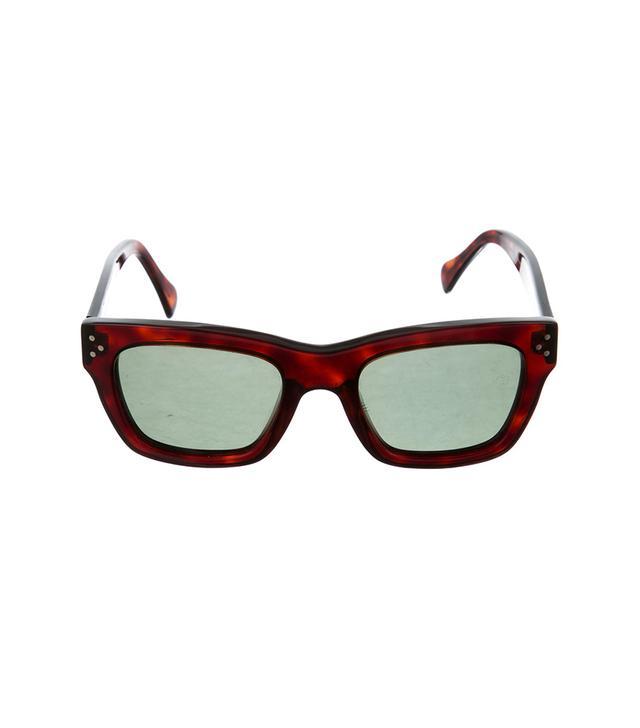Celine Tortoiseshell Square Sunglasses