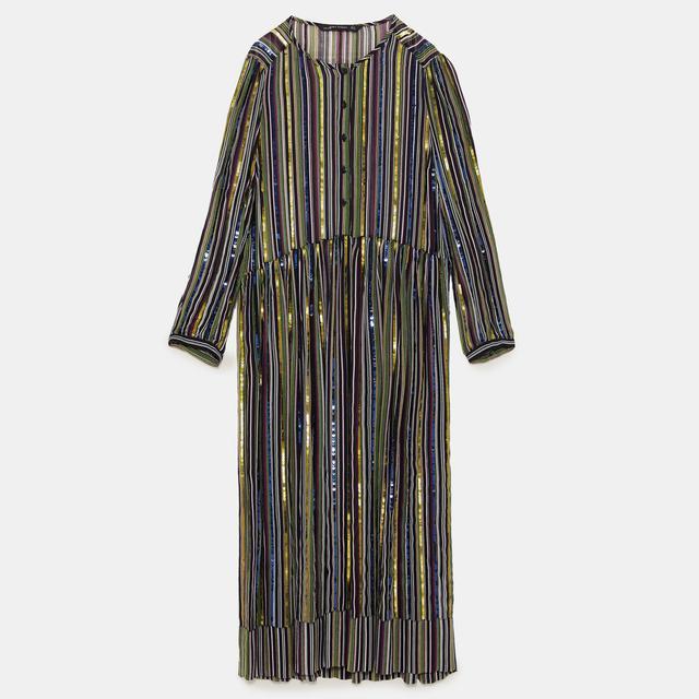 Zara Sequinned Stripe Dress 70