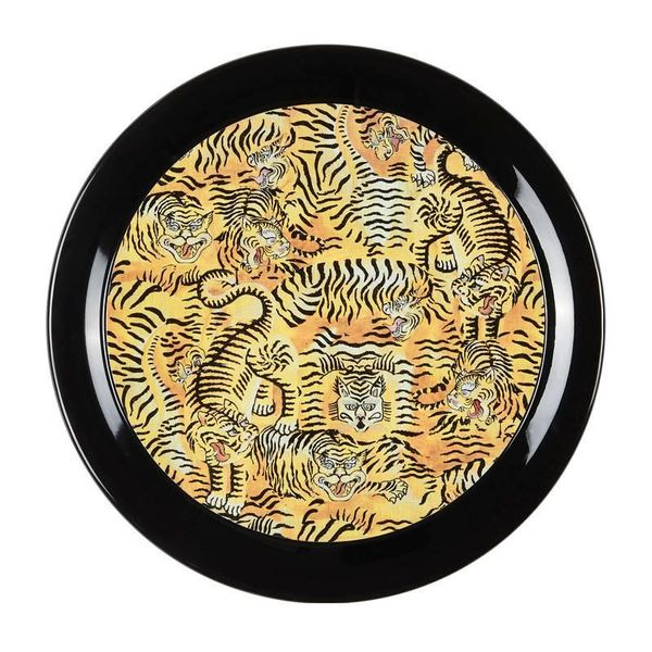 Gucci Tigers Large Round Metal Tray
