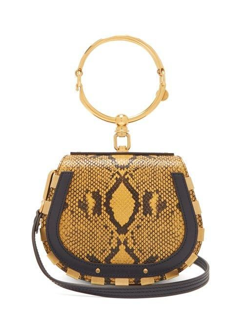 Chloé Nile Small Leather and Suede Cross Body Bag