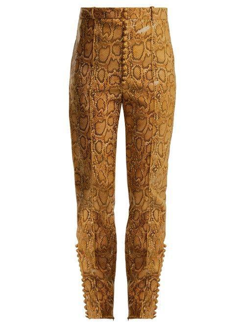 Hillier Bartley Faux Python Slim Leg Trousers