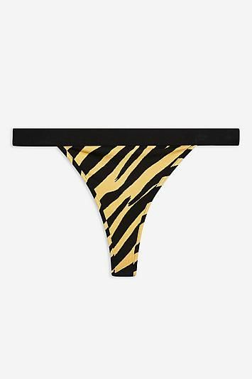 Topshop Zebra Print Thong