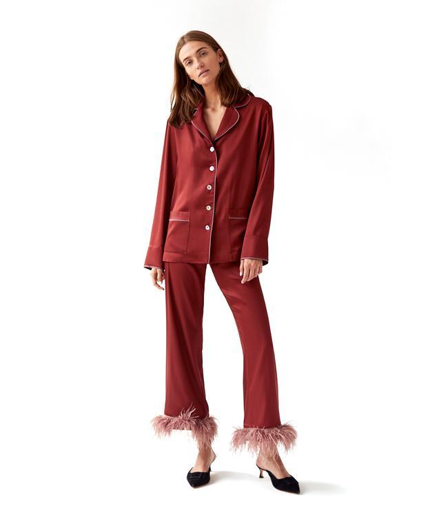 Sleeper Terracotta Pajama Set in Whiskey, Please!