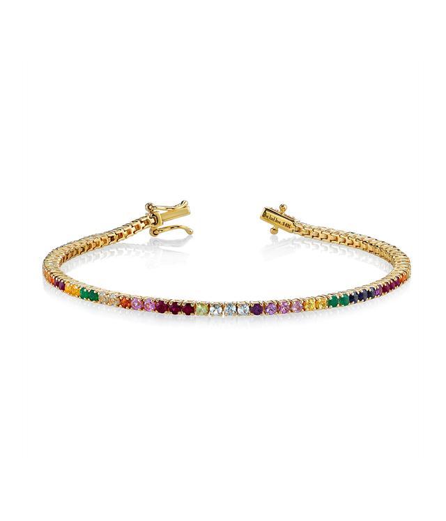 The Last Line Perfect Rainbow Tennis Bracelet