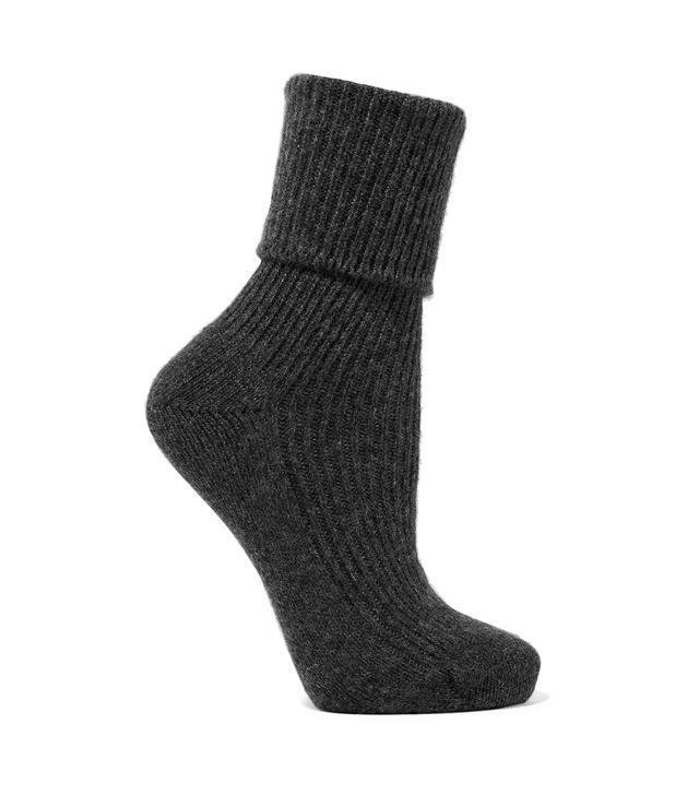 Johnstons of Elglin Ribbed Cashmere Socks