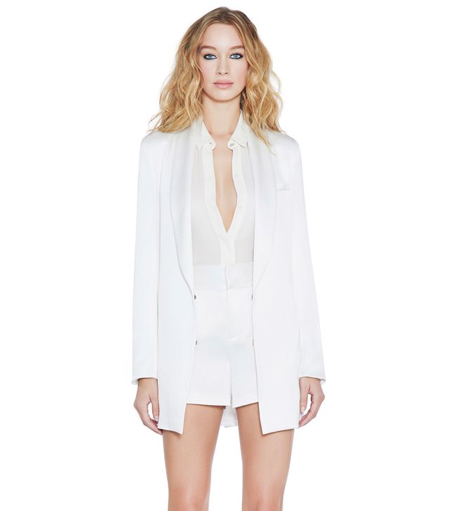 Alice and Olivia Jace Shawl Collar