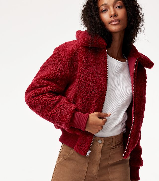 Wilfred Free for Aritzia The Teddy Crop Jacket