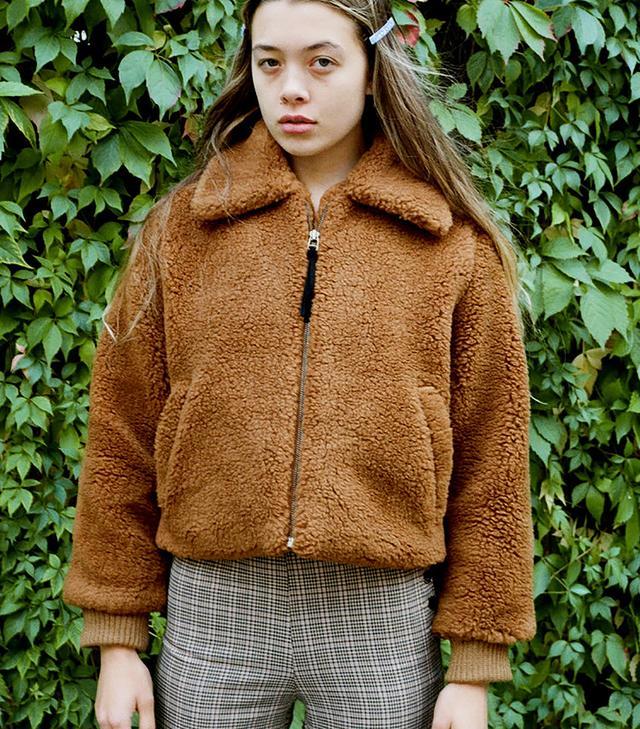 Side Party Dede Faux Sheepskin Jacket