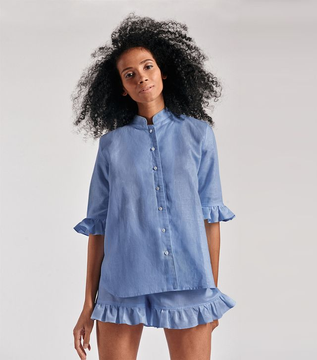Sleeper Linen Lounge Suit Moonstone Blue