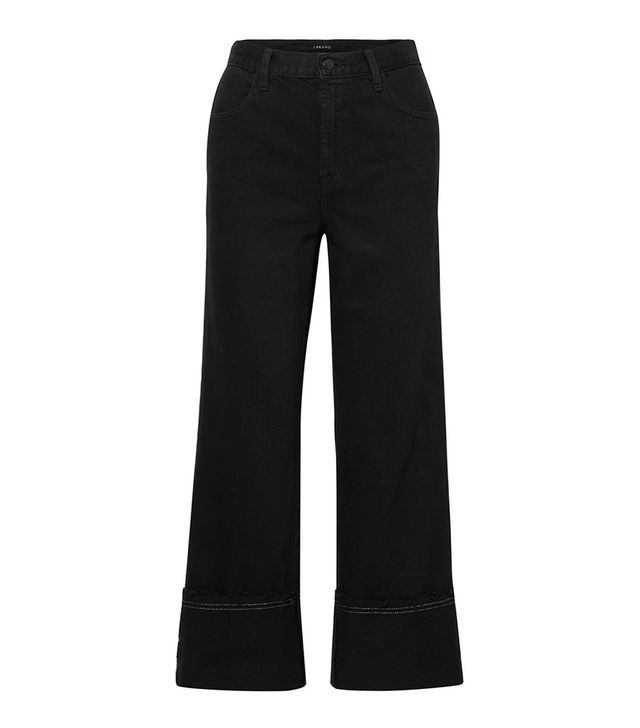 J Brand Joan Cropped High-Rise Wide-Leg Jeans