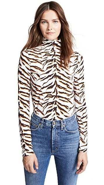 M.i.h Jeans Bay Garnett Tiger Turtleneck