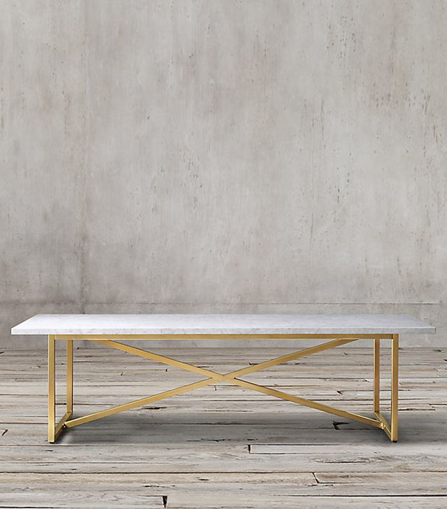 Restoration Hardware Torano Marble Rectangular Dining Table