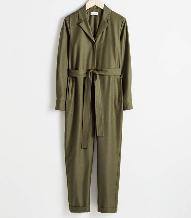 & Other Stories Belted Wool Blend Boilersuit