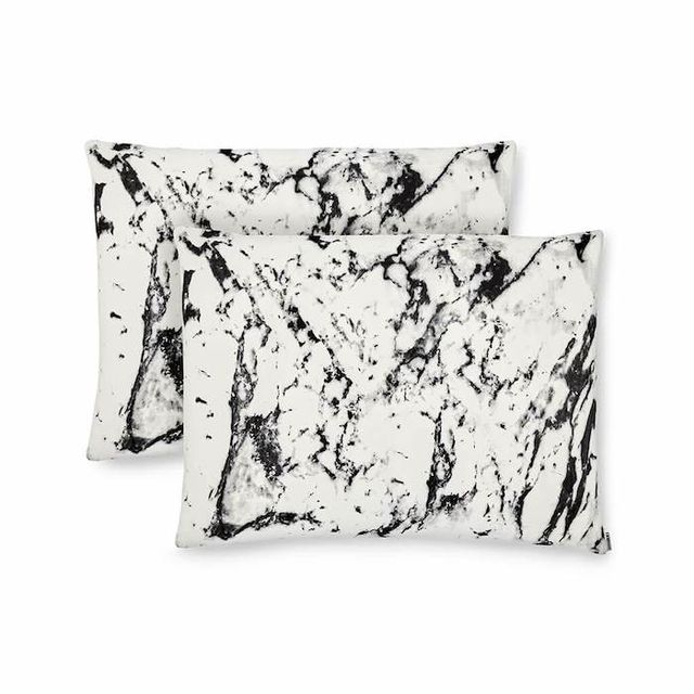 Shhh Silk White Marble Pillowcases
