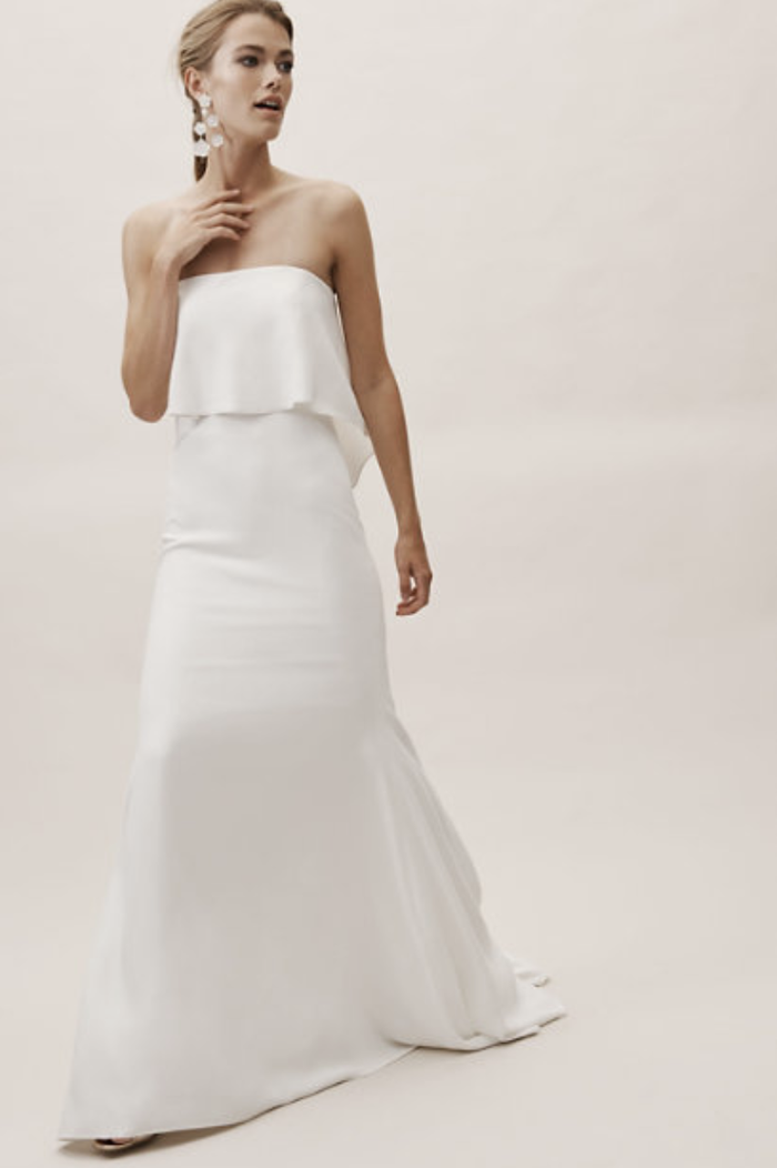 19 Minimalist Wedding Dresses For The Unfussy Bride Who What Wear