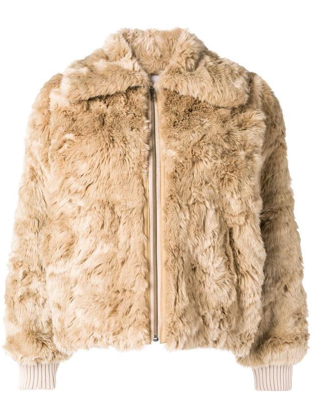 08Sircus Faux Fur Zipped Jacket