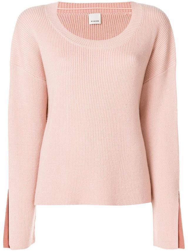Pinko Ribbed Slit Cuff Sweater
