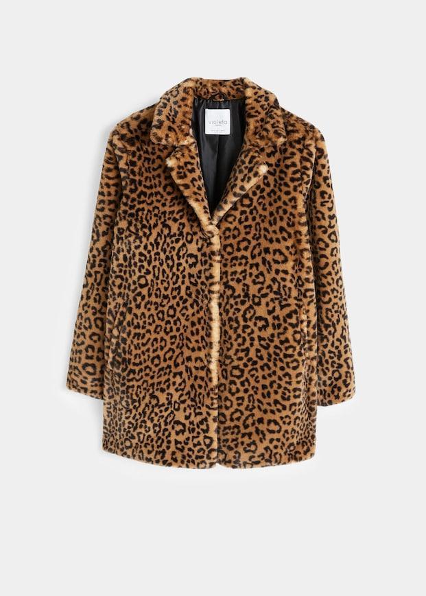 Violeta Animal Print Faux Fur Coat