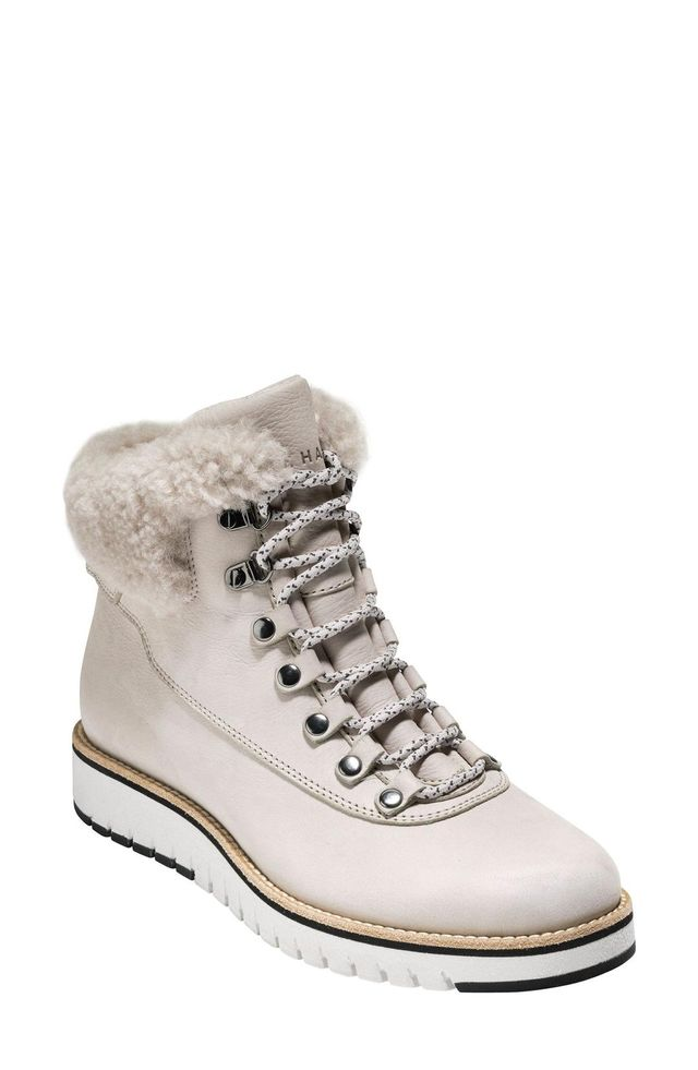 Cole Haan Grandexploer Genuine Shearling Trim Waterproof Hiker Boots