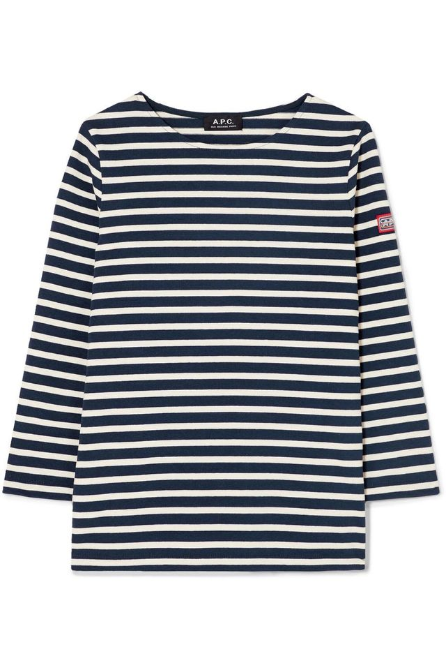 A.P.C. Niki Striped Cotton Top