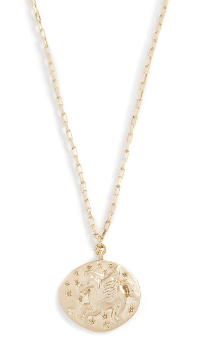 Shashi Unicorn Coin Necklace