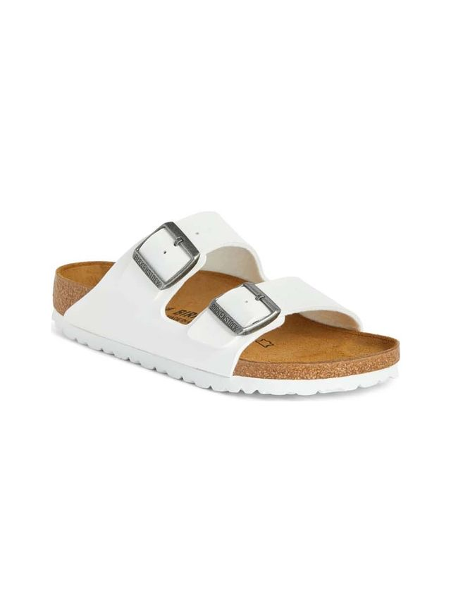 'Arizona' White Birko-Flor Sandal
