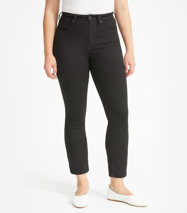 Everlane Authentic Stretch High-Rise Cigarette Ankle Jeans