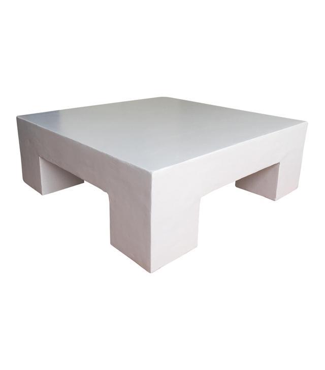 10laurel Mid-Century Plaster Coffee Table