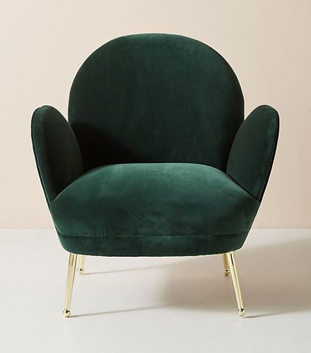 Anthropologie Velvet Savonna Chair