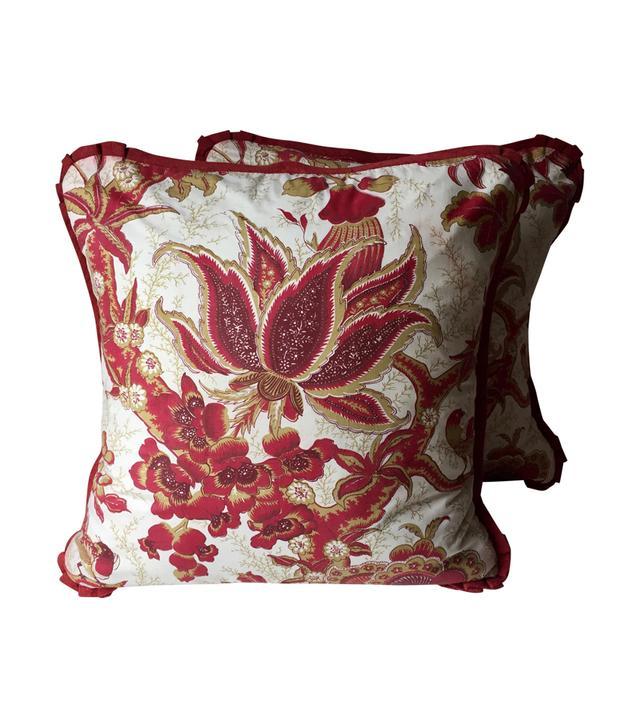 Chairish Vintage English Chintz Pillows